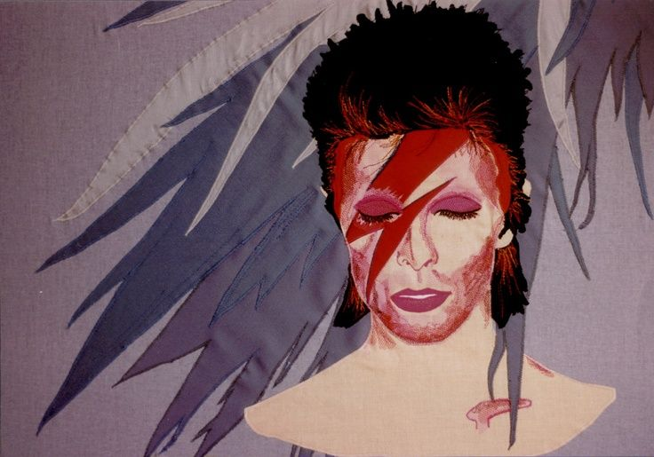 David Bowie .R.I.P ...  Sing with the angles now . David Bowie made by Britta Damgaard