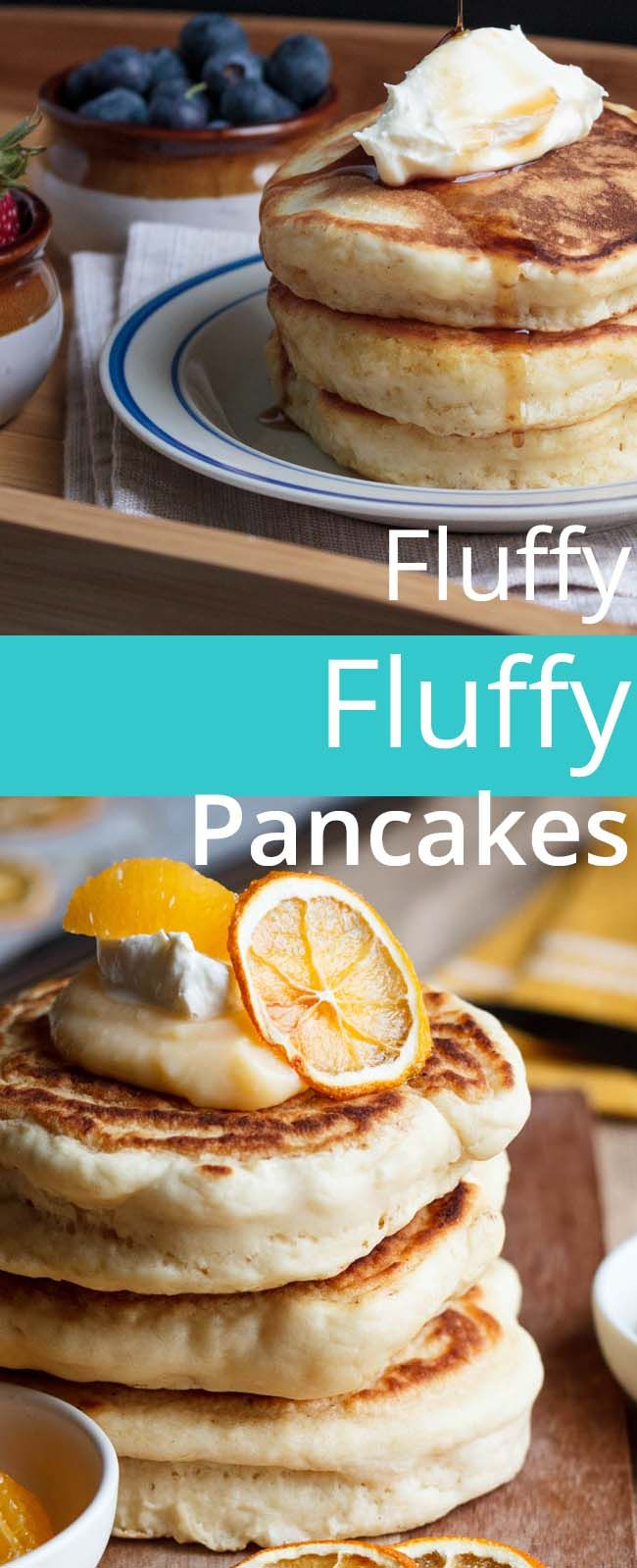 FLUFFY FLUFFY PANCAKES: I have an obsession with pancakes (there are people out there who don't - what??) These pancakes are my ode to all things light and fluffy.
