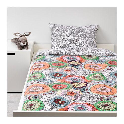 vnskaplig duvet cover and pillowcases multicolor multicolor twin - Duvet Covers Ikea