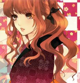 anime girl with brown hair and hazel eyes images
