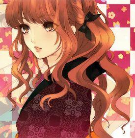 Anime girl with black hair and hazel eyes