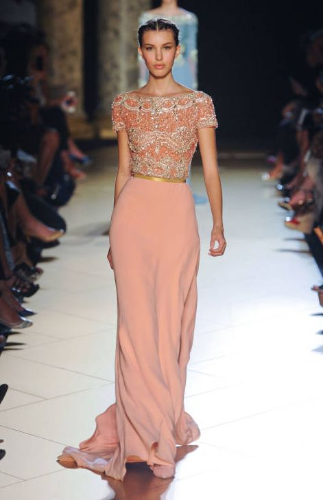 Ellie Saab- Lacey top maxi skirt