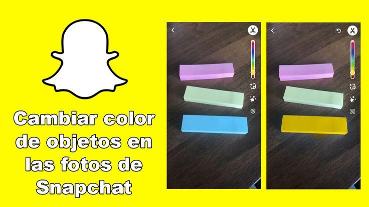 Conoce como usar la nueva función de Snapchat ✅ que te permite cambiar de color cualquier objeto o área de una foto antes de publicarla en tu historia. #Snapchat #iOS #Android downloadsource.es