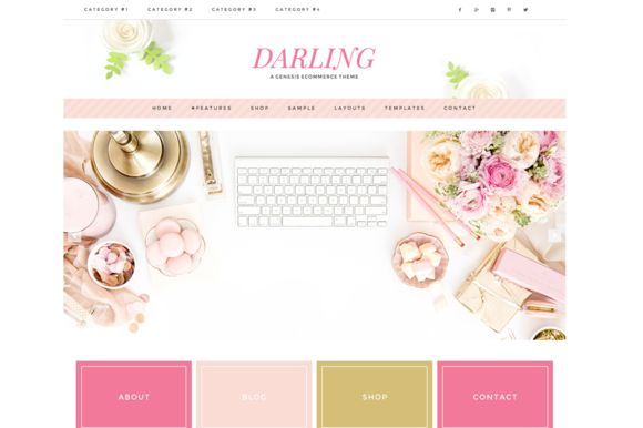 Darling // A Genesis Child Theme by Restored 316 on @creativemarket