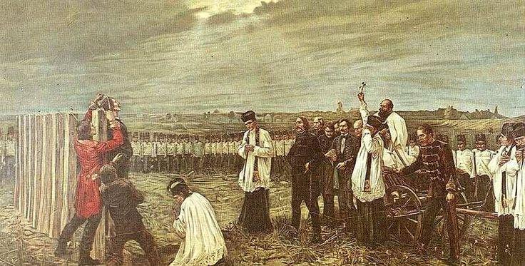 6.10.1849. – u Aradu  je obješeno 13 mađarskih generala (Aradski mučenici) koji su zapovijedali mađarskom vojskom u Revoluciji 1848. protiv Austrijskog carstva. Prema predaji, dok su smaknuća izvršavana austrijski su zapovjednici u blizini slavili pobjedu nad Mađarima i kucali se pivskim kriglama. Stoga su se Mađari zarekli da se ne će kucati pivskim kriglama sljedećih 150 godina. To je vrijeme isteklo 1999. godine, no i danas se u Mađarskoj smatra nepristojnim kucanje kriglama i bocama.