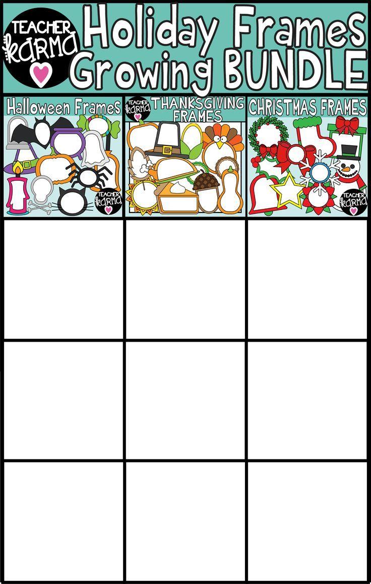 holiday frames clipart growing bundle tpt misc lessons pinterest clip art teacher and classroom [ 736 x 1157 Pixel ]