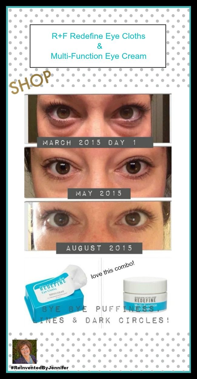 REDEFINE  Multi-Function Eye Cream combines powerful peptides to minimize the appearance of crow's-feet, helps reduce the appearance of both puffiness and dark under eye circles while special optical diffusers noticeably brighten the eye area. This formula is ideal for maintaining the delicate skin around the eyes.