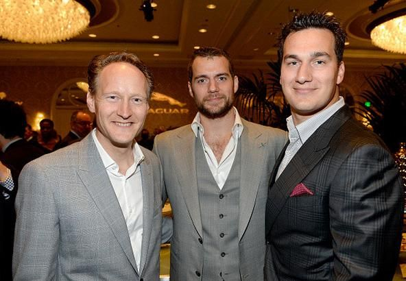 LA British Consul General, Henry and Charlie Cavill - Bafta tea party (Jan 2015)