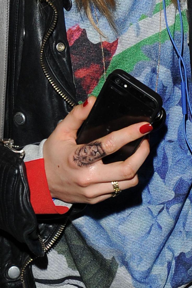 Cara Delevingne's lion tattoo by Bang Bang
