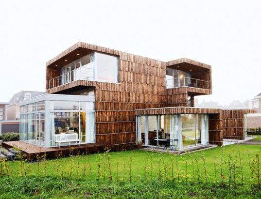 modern dutch house built from salvaged billboards