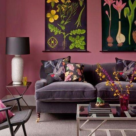 esquemas de cor vermelha vinho para design de interiores moderno e de decoração para casa