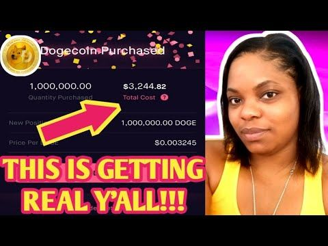 1 000 000 Dogecoins Cryptocurrency Dogecoin Crypto On Robinhood Stock Investing App Dogecoi Investing Apps Investing In Stocks Investing