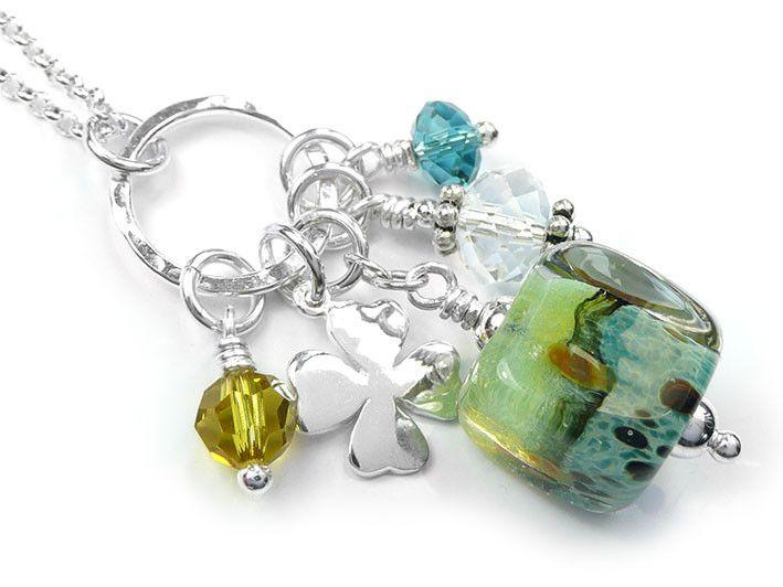 Lampwork Glass Pendant - Spritz