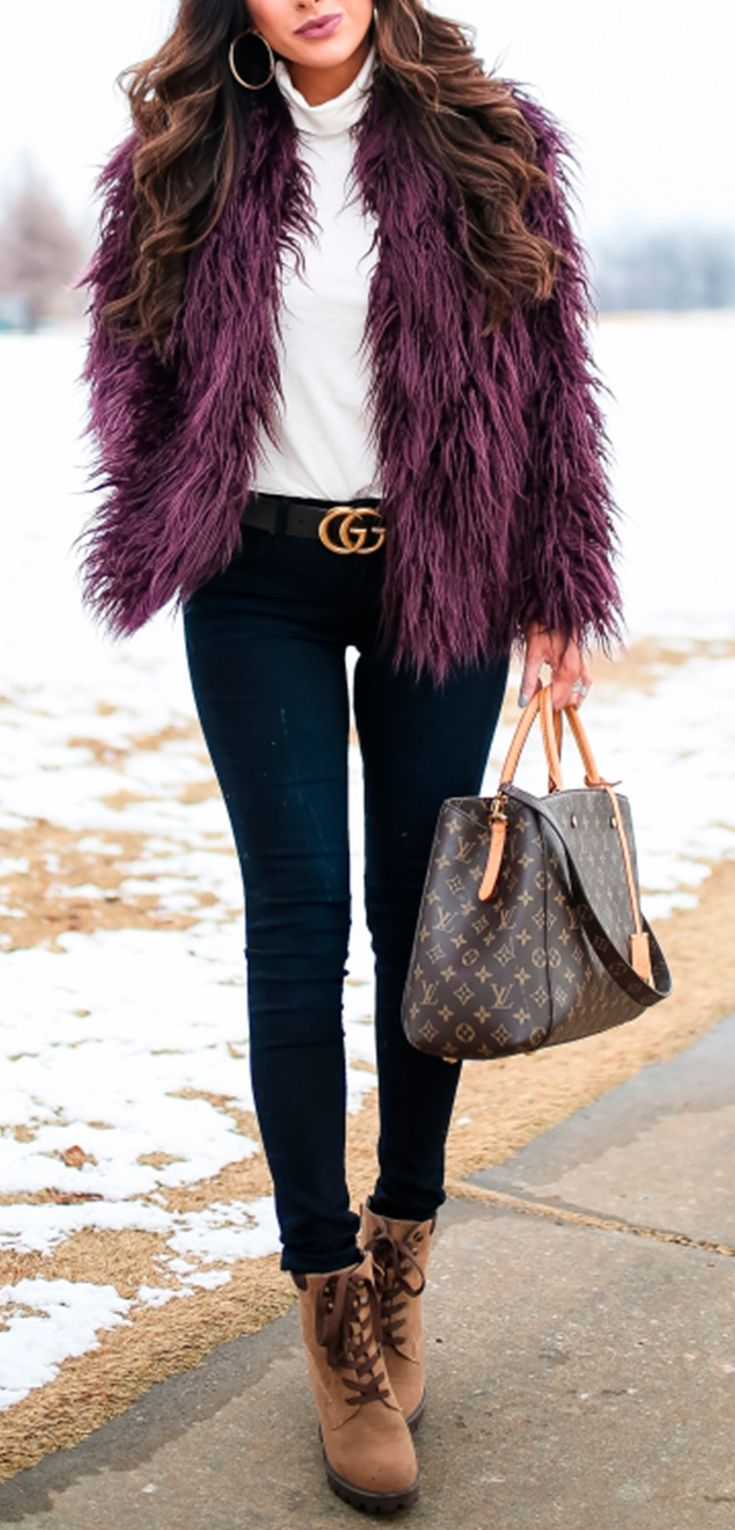 Trouve Jacket, J. Crew Turtleneck, AG Denim, Callisto Boots, Gucci Belt, Louis Vuitton Bag, Argento vivo earrings, winter fashion, fashion winter trends, warm clothes, fashion for women. , The Sweetest Thing Blog, Emily Ann Gemma #thesweetestthingblog #emilygemma