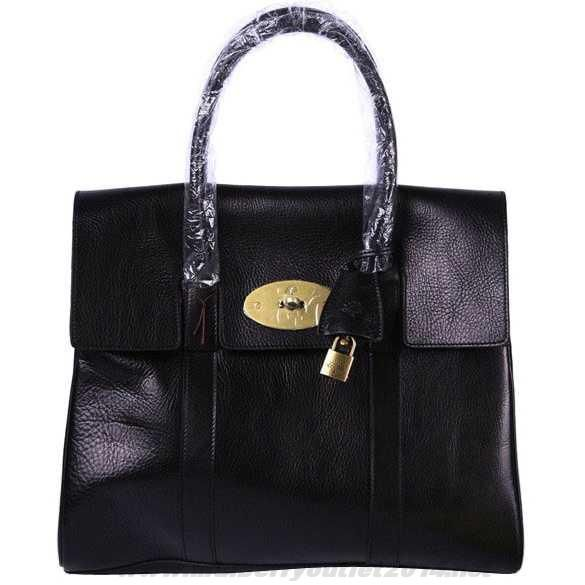 Womens Mulberry Standard Bayswater Leather Shoulder Bag Black Fast Shipping