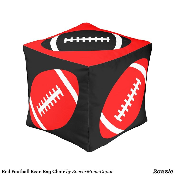 Red #Football Bean Bag Chair Cube Pouf #TexasTech #RedRaiders #WreckemTech