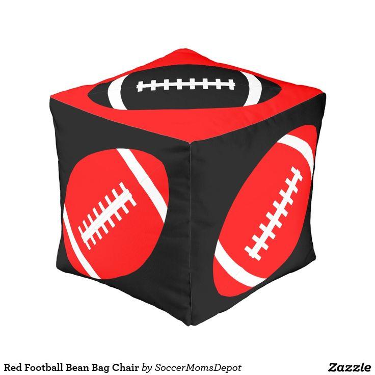 Red Football Bean Bag Chair Cube Pouf TexasTech RedRaiders WreckemTech