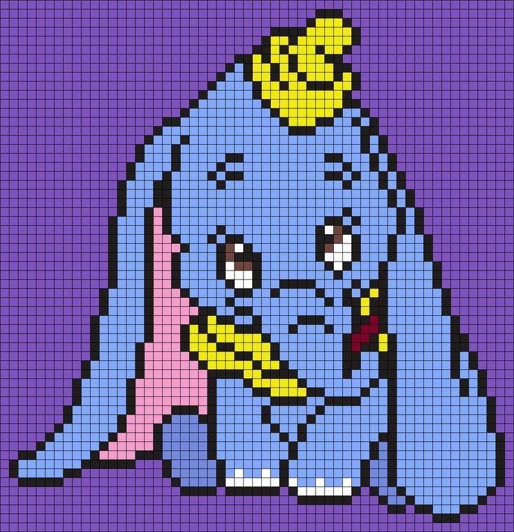 Dumbo_(Square) by Maninthebook on Kandi Patterns