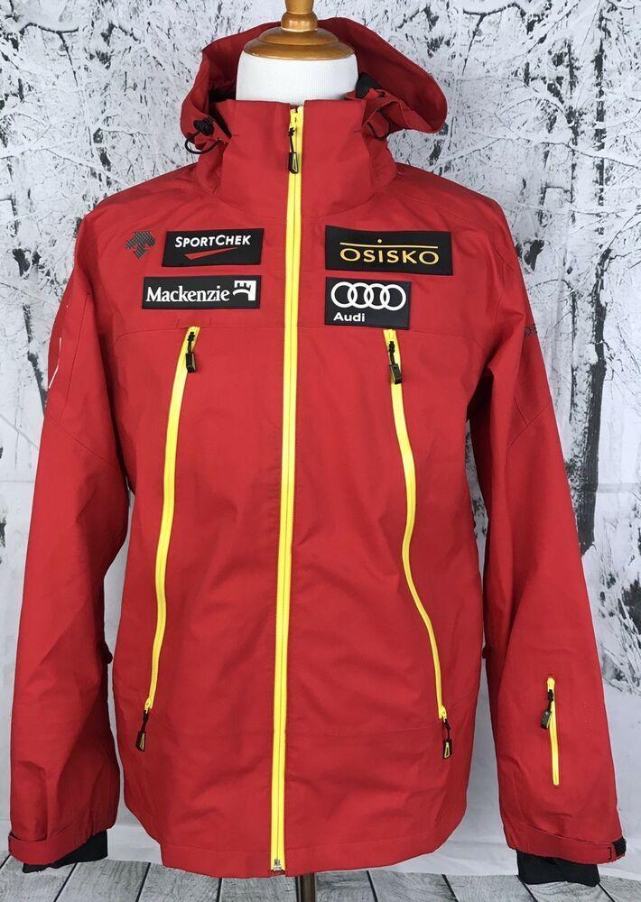 Details About Descente Mens Audi Osisko Telus Sponsor Black Ski
