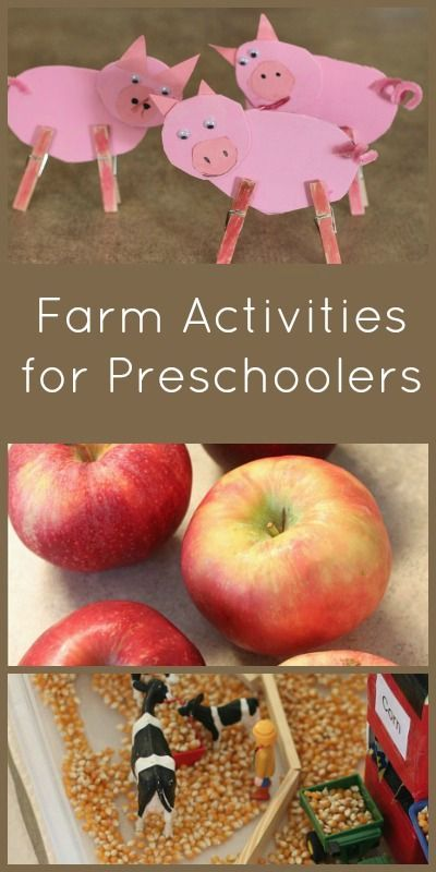 Love this collection of farm activities for preschoolers!