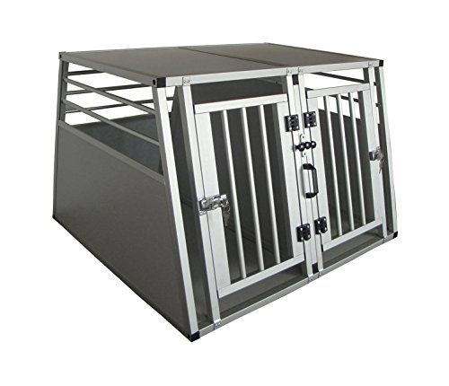 Cool Runners Pro Series Secure Aluminum Double Door Dividable Dog / Pet Travel/Car Crate >>> For more information, visit image link.