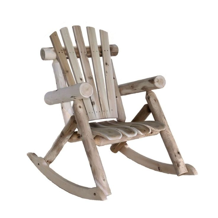 Natural Cedar Log Adirondack Style Rocking Chair   Quality House