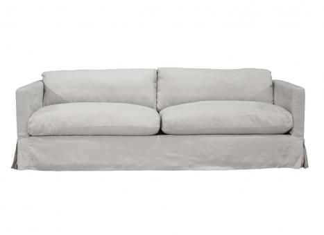 Pauline 3.5 Seater Sofa Linen. A Block and Chisel Product.