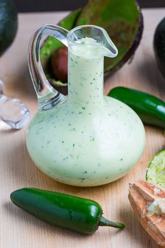 Creamy Avocado Dressing (aka Guacamole Buttermilk Dressing) - a cool and creamy avocado dressing with tangy buttermilk, fresh cilantro and lime juice along with some spicy jalapeno pepper.