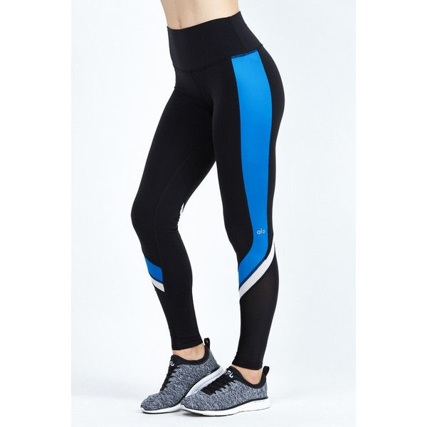 Alo Elevate Legging ($79) ❤ liked on Polyvore featuring pants, leggings, alo, shiny leggings, textured leggings, matte leggings and wet look leggings