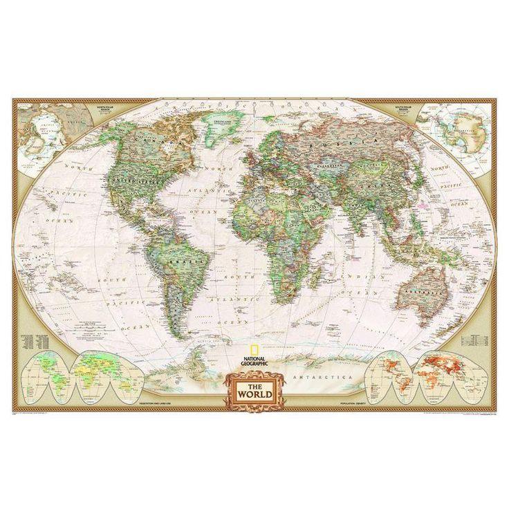 National Geographic Antike Weltkarte politisch, Riesenformat