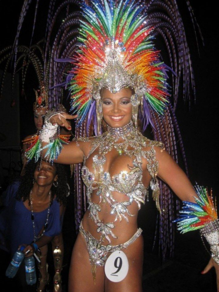 See Through Samba Costumes | Pictured here is a samba queen from last year's carnival who was named ...