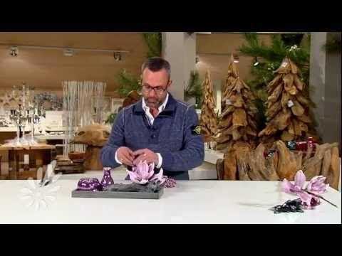 Houten tray opmaken met romarische theelichtjes en decoratie - YouTube