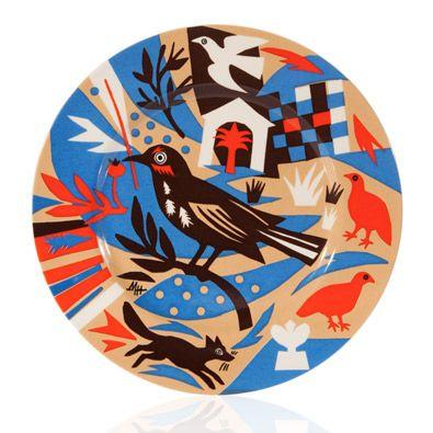 Mark Hearld Folk Art Dinner Plate