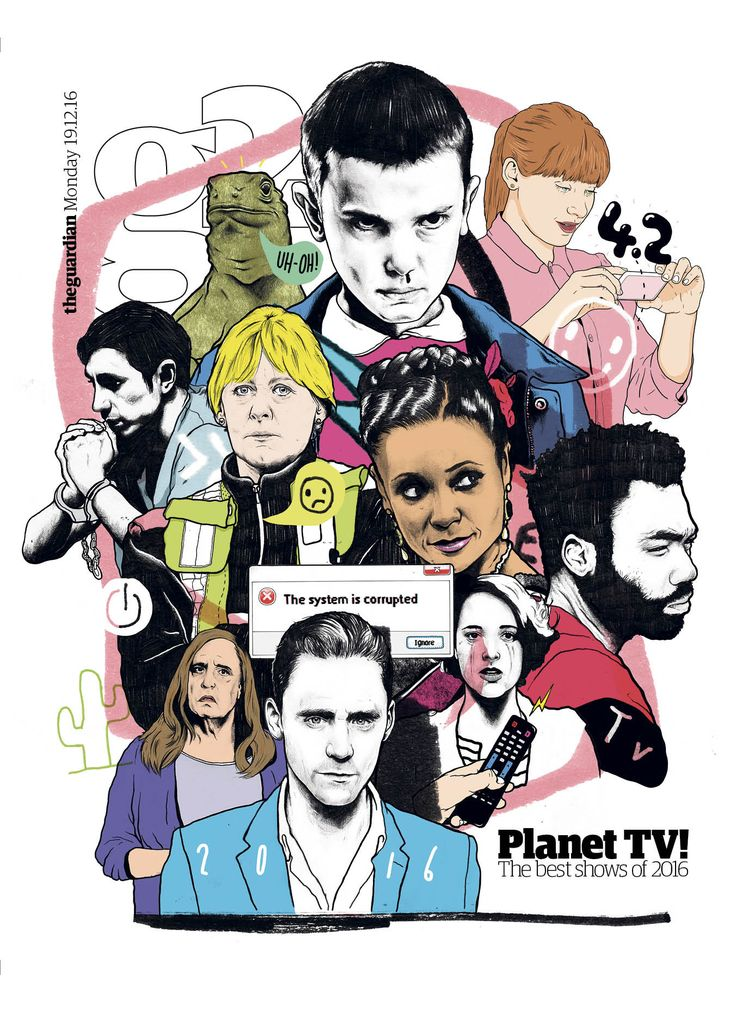 #editorialdesign #newspaperdesign #graphicdesign #design #theguardian Guardian g2 cover #illustration by WantSomeStudio