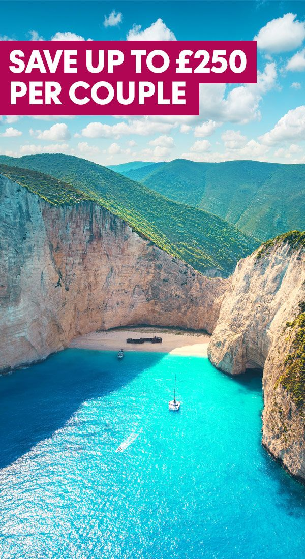 With pristine white beaches and pebbly cove bays, the spectacular shorelines of Zante are a perfect place to spend your time relaxing. And with hidden village spots to modern bustling resorts, whatever you want from your holiday, Zante offers something for everyone. Book now and save up to £250 per couple on May departures!