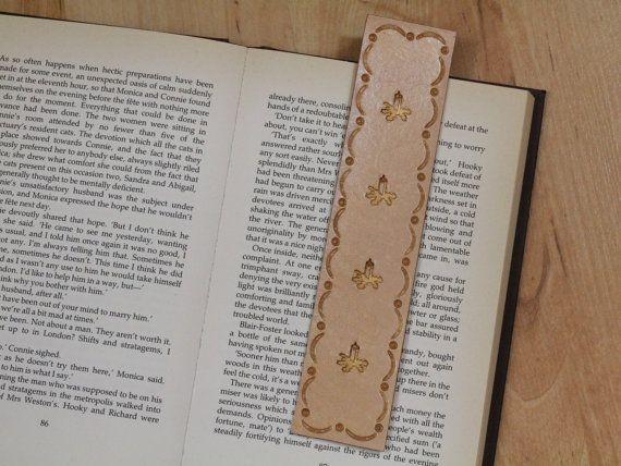 Christmas Candle Bookmark  Unique Christmas by TinasLeatherCrafts. RepinTo Remember.