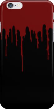 Red Drip Black iPhone Case - Available Here: http://www.redbubble.com/people/rapplatt/works/12860174-red-drip-black?always_show=true&p=iphone-case