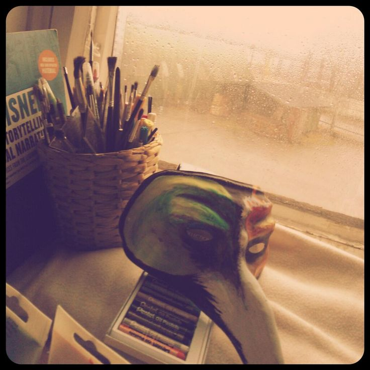 A #rainy day in my #art studio.