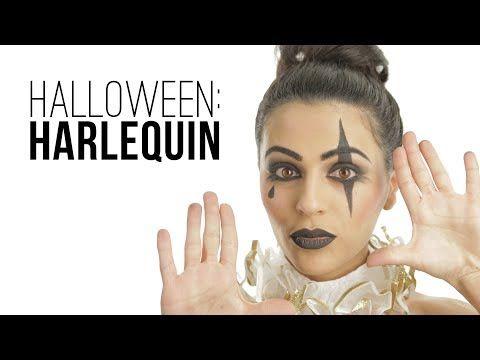 ▶ Halloween: Harlequin Makeup Tutorial with Teni (MissMavendotcom) // I love makeup. - YouTube