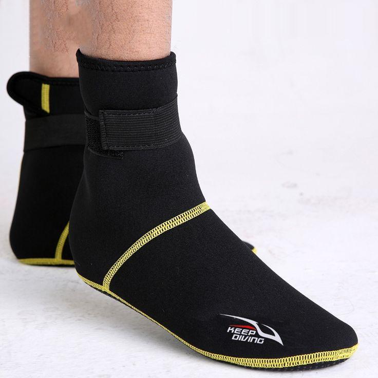 3mm Neoprene Snorkeling Shoes Scuba Diving Socks Beach Boots Wetsuit Anti Scratch Non-slip Winter Keep Warming Swimming Seaside