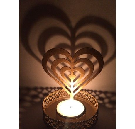 Valentine gift - Heart shaped candle / T Light Holder