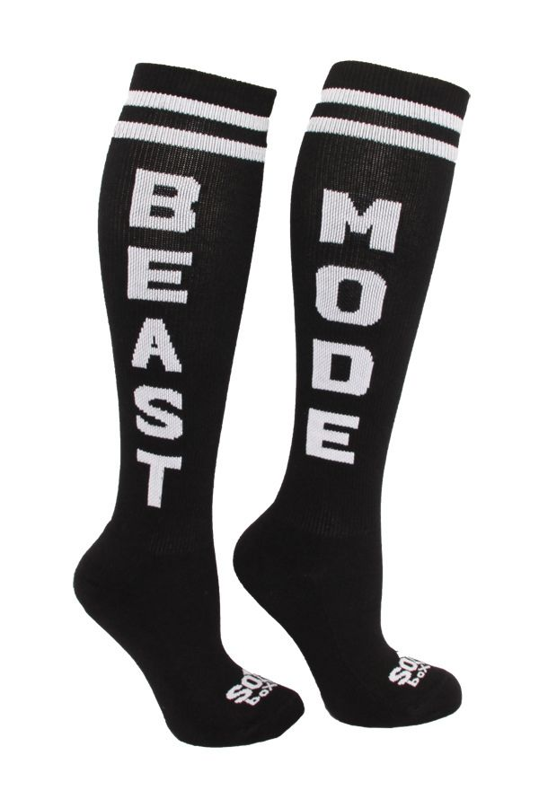 WODshop.com - The Sox Box | BEAST MODE Socks - Black/White, $9.99 (http://www.wodshop.com/the-sox-box-beast-mode-socks-black-white/)