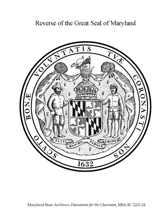 maryland state seal reverse coloring page