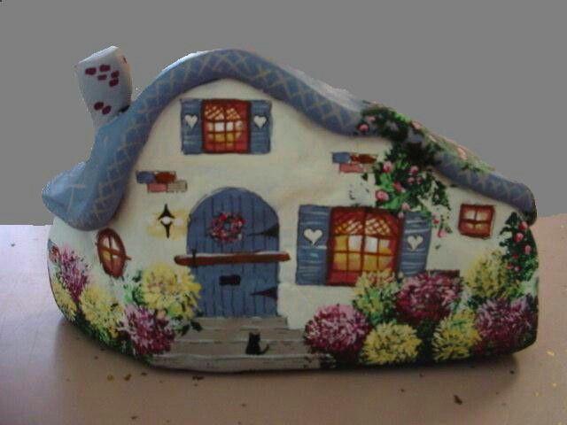 Painted cottage rock by Trisha Webster