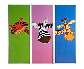 Set de 3 cuadros infantiles en resina – multicolor