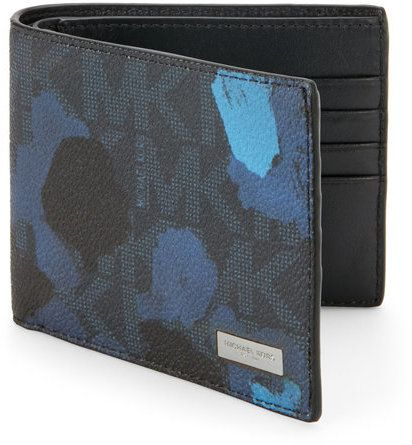 michael kors Jet Set Painterly Camo Billfold Wallet
