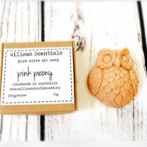 Pink Peony Olive Oil Soap  #pinkpeony #oliveoilsoap #peonies #owlsoap #vegan #vegansoap #palmfree
