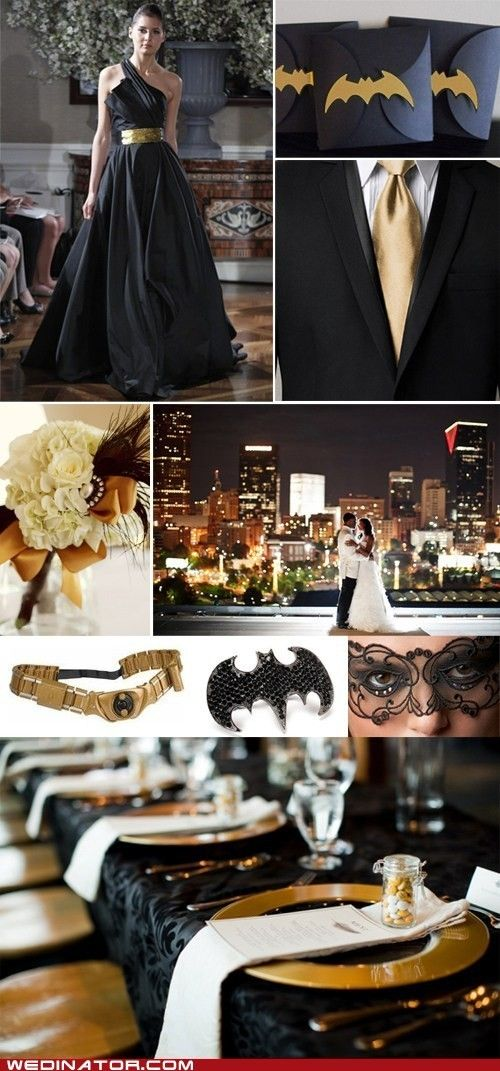 Elegant Batman Wedding - @Jessica Jt Telep This made me think of you and all your batman stuff!
