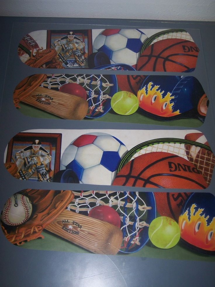 CUSTOM SPORTS Ceiling Fan W Light LACROSSE SOCCER TENNIS BASEBALL BASKETBALL