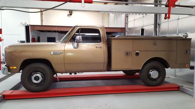 1989 Dodge D250 Power wagon Utility truck 4x4 3/4 ton Ram for sale ...